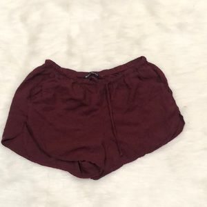 Brandy Melville solid stretchy one size shorts